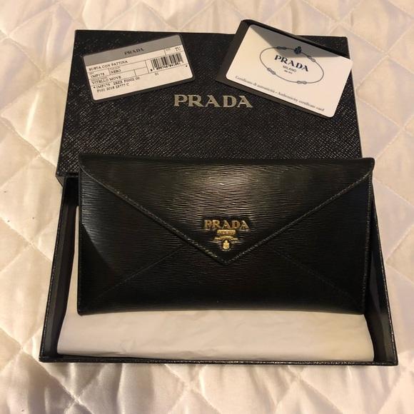 eaa5d26eaf31 Prada Bags | Sale Sunday Onlyblack Envelope Wallet | Poshmark